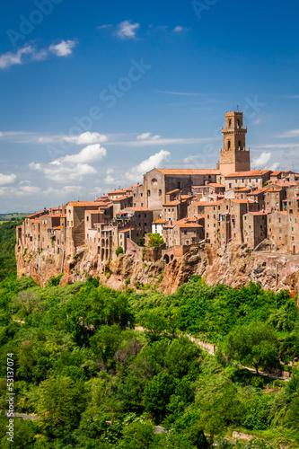 Fototapety, obrazy: Pitigliano city on the cliff, Italy