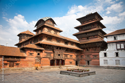 Wall Murals Nepal Hanuman Dhoka, old Royal Palace, Durbar Square in Kathmandu, Ne