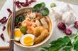 Malaysian food prawn mee