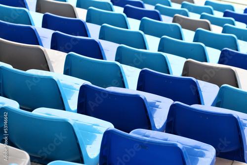 Spoed Foto op Canvas Stadion Seats in stadium