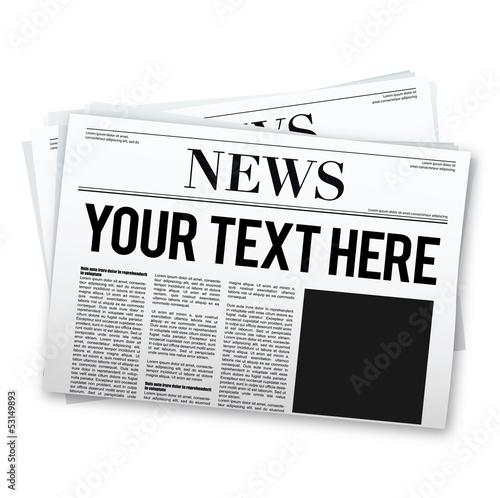 Photo Newspaper with picture