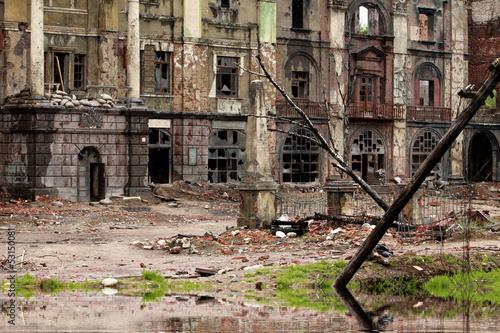 Fotografía  Destroyed building after War