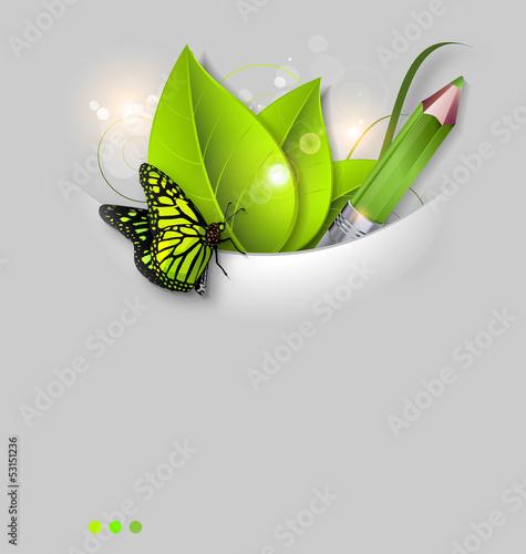 Staande foto Hoogte schaal Fresh leaves vector background template