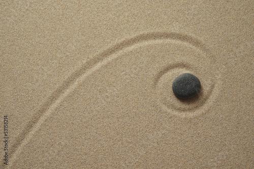 Acrylic Prints Stones in Sand Zen, der Weg