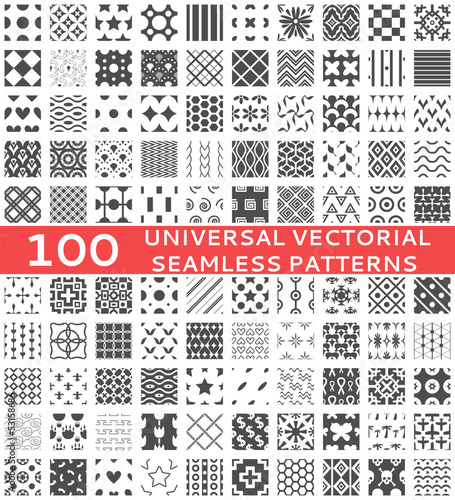 Universal different vector seamless patterns (tiling) - 53158686