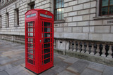 Red phone booth in London - 53159628
