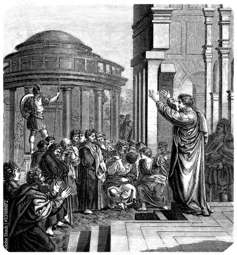 Valokuva  Apostel : Preaching in Athens - Early Christianism