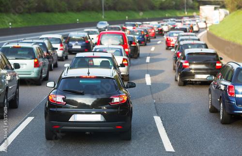 Traffic jam Fototapeta