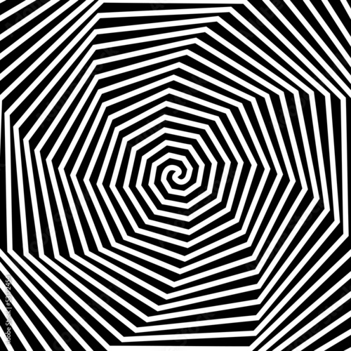 Wall Murals Psychedelic Black and white hypnotic background.