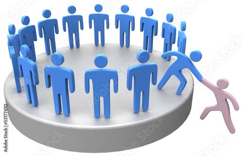 Fotografía  Help join up social business people