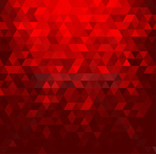 Abstract Red Mosaic Background