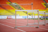 Hurdles on race tracks for obstacle race