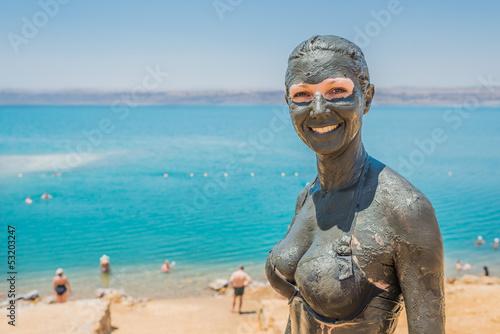 Fotografie, Obraz  dead sea mud body care treatment jordan