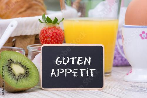 Fototapeta guten appetit beim frühstück