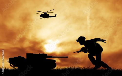 Poster Militaire soldiers at war