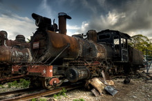 Wreck Of Communist Locomotive ...