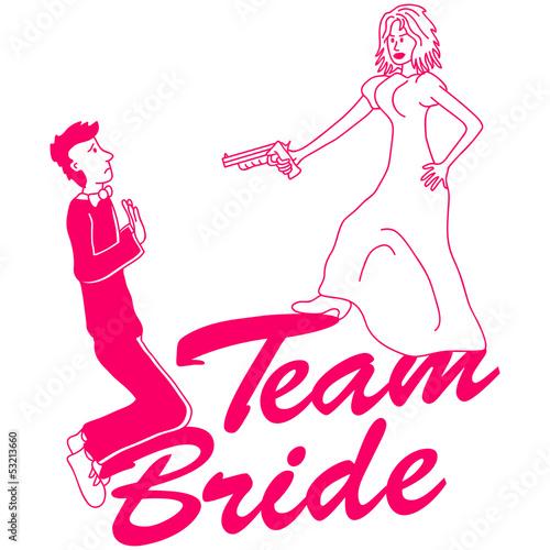 Poster Doodle Team Bride