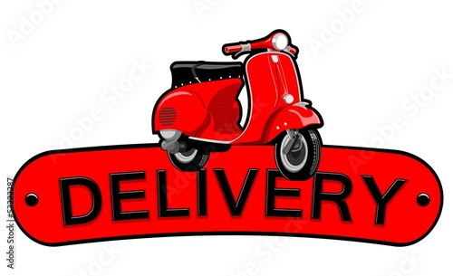 Poster Motorcycle Delivery motorcycle