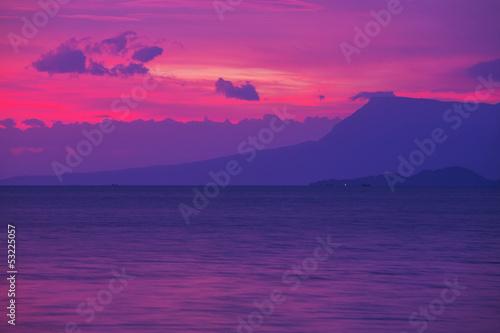 Poster Prune Sunset scene