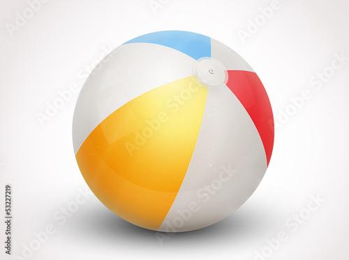 beach ball vector illustration Fototapeta