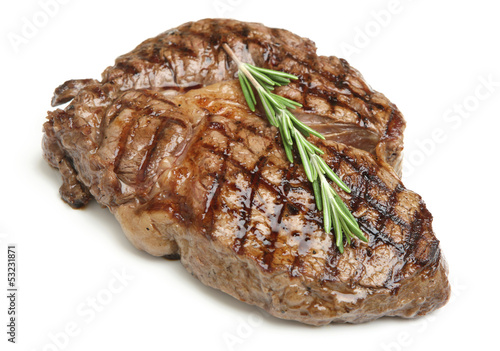 Spoed Foto op Canvas Vlees Cooked Rib-Eye Steak