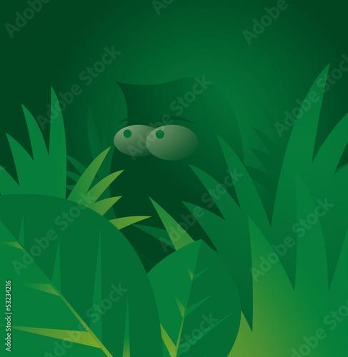 Canvas Prints Fairytale World Man in green jungle
