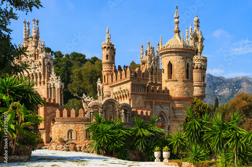 Colomares castle in Benalmadena, Spain