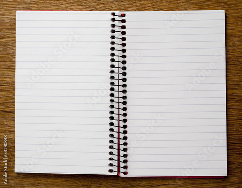 empty lined paper book double page buy this stock photo and