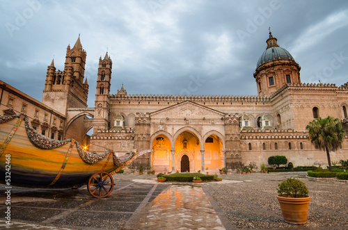 Photo sur Toile Palerme The cathedral of Palermo, Sicily, Italy