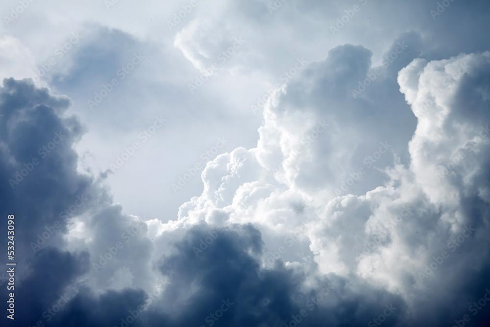 Fototapeta Dramatic sky with stormy clouds