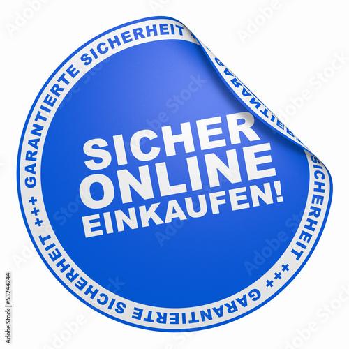 Fotografie, Obraz  3D Aufkleber Blau - Sicher online einkaufen!