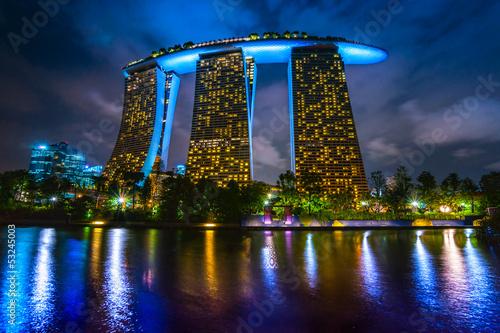 Tuinposter Singapore Marina Bay Sands, Singapore,