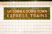 Tiled New York City Subway Train Sign