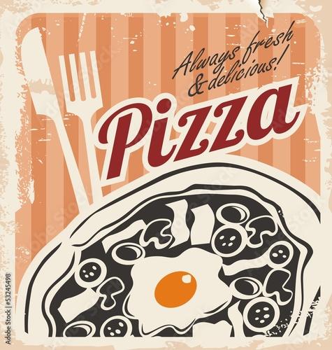 rocznik-pizzy-plakat-na-starej-papierowej-teksturze