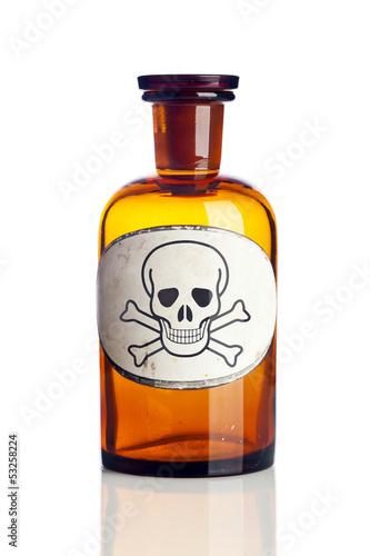 Fotografía  Giftflasche isoliert