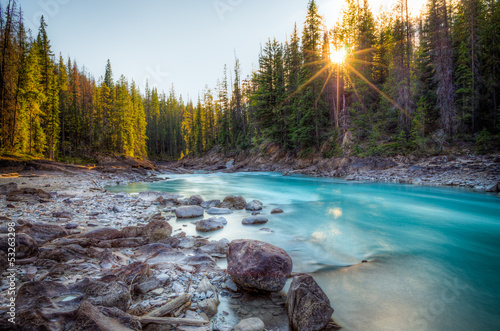 Foto op Aluminium Canada Natural Bridge Canadian rockies