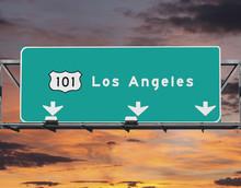 101 Freeway Los Angeles Sunris...