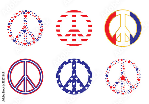 Photo  Patriotic Peace Signs