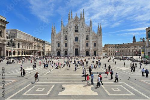 Fotografie, Obraz  Milano Piazza del Duomo