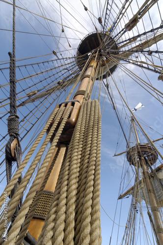 Valokuva  Rigging of sailing ship (tall ship)
