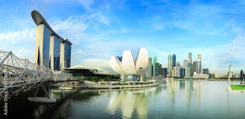 Tuinposter Singapore Panorama of Singapore