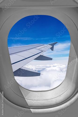 Widok okna samolotu