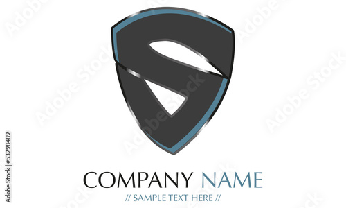 S company name Wallpaper Mural
