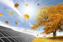 Autumn Landscape With Solar Pa...