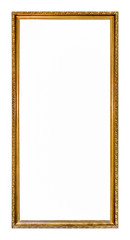 Empty gold colored picture frame