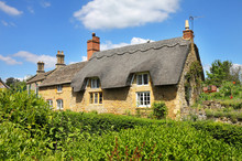 Traditional Cotswold Stone Village Cottages