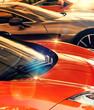 gleaming cars