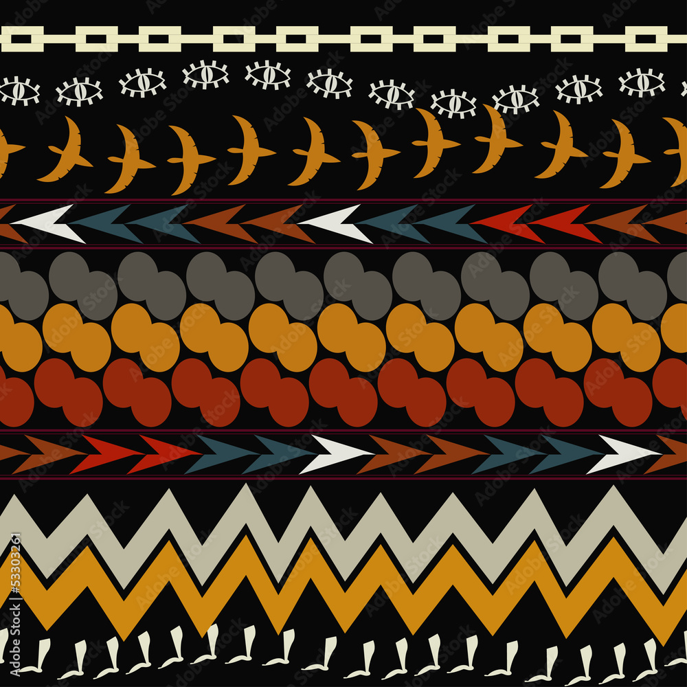 Photo Seamless ethnic pattern. Tribal style