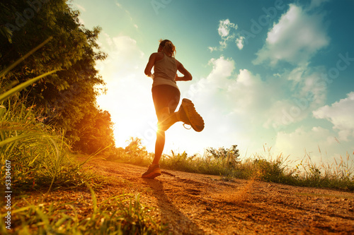 Foto op Canvas Jogging Runner