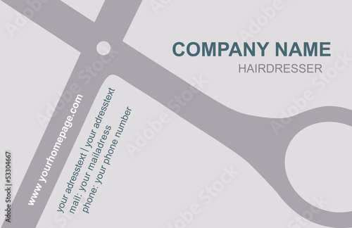 Visitenkarte Friseur Logo Kaufen Sie Diese Vektorgrafik